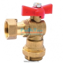 Brass angle valve with check valve, connect before water meter